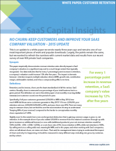 No Churn Keep Customers and Improve Your SaaS Company Valuation