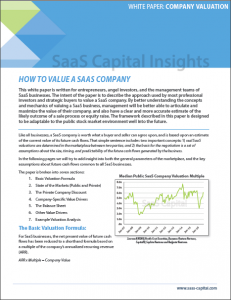 ow to Value a SaaS Company