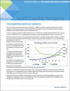 The Daunting Math of Growth