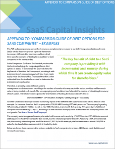 Appendix to Comparison Guide of Debt Options for SaaS Companies
