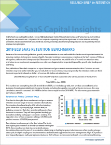 2019 B2B Private SaaS Company Retention Benchmarks