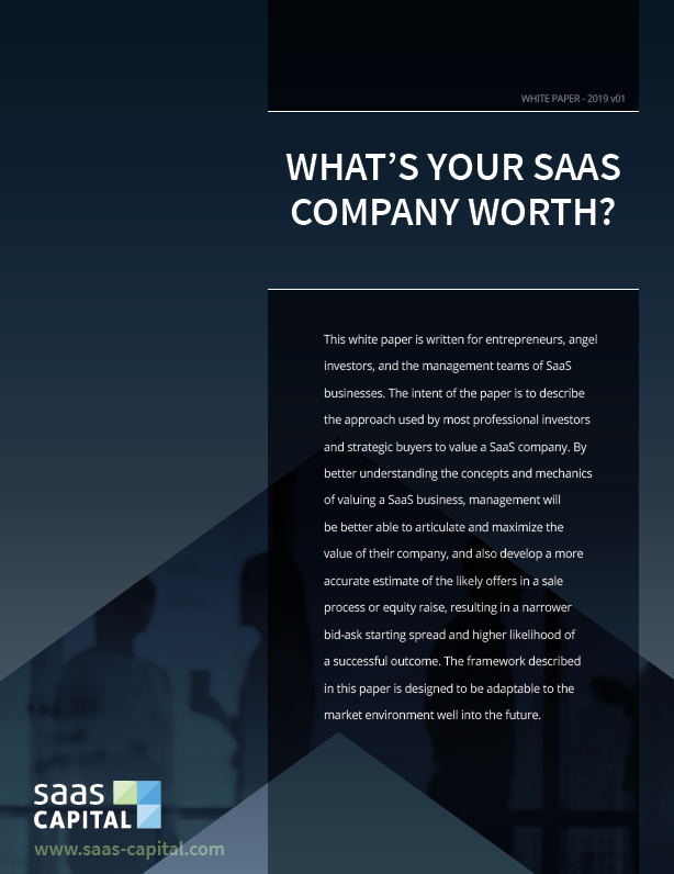 Private SaaS Company Valuations T1