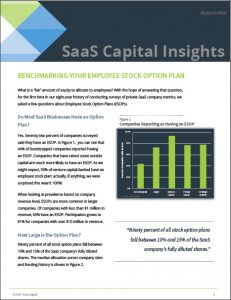 SaaS Employee Stock Option Plan Data