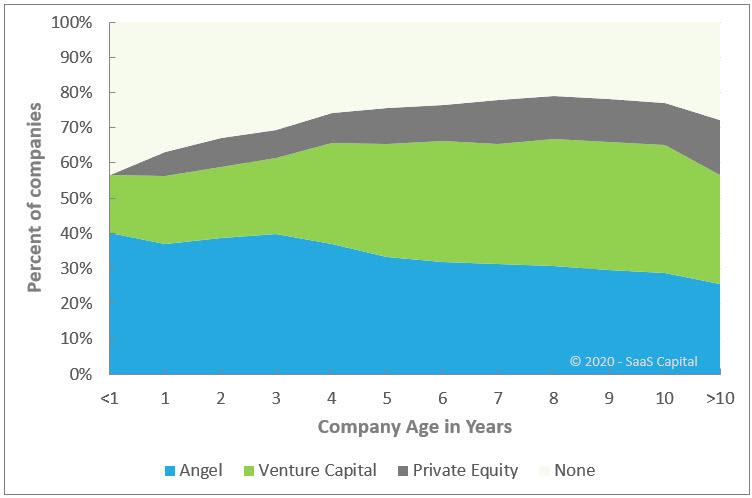 B2B SaaS Company Equity Raise by Company Age