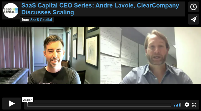 Andre Lavoie from ClearCompany Discusses Scaling