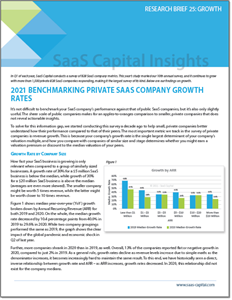 2021 Private SaaS Company Growth Rate Benchmarks RB
